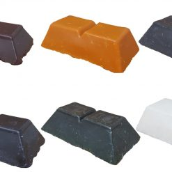 Candle dye wax blocks