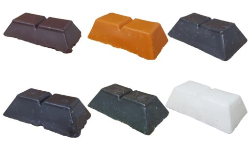 Candle dye wax blocks
