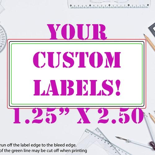 1.25 x 2.5 Inch Rectangle Custom Label