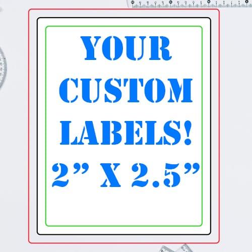2 x 2.5 Inch Rectangle Custom Label