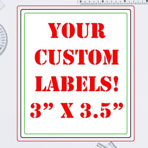 3 x 3.5 Inch Rectangle Custom Label