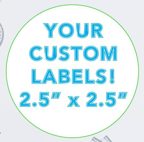 2.5 Inch Round Custom Label