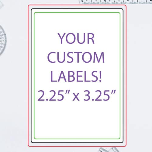 "2.25"" x 3.25 Inch Rectangle Custom Label"
