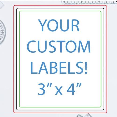 3 x 4 Inch Rectangle Custom Label